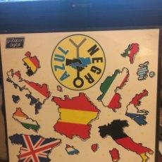 Discos de vinilo: AZUL Y NEGRO-MERCADO COMUN-1985-ENCARTE CON LETRAS-VINILO SIN USO. Lote 147749760