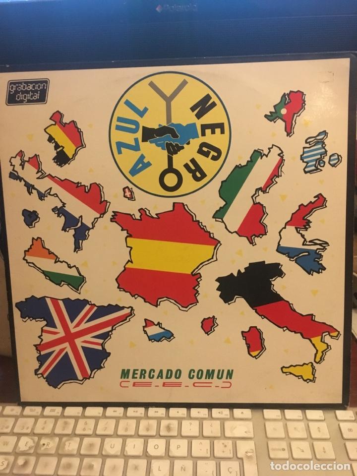 Vinyl-Schallplatten: AZUL Y NEGRO-MERCADO COMUN-1985-ENCARTE CON LETRAS-VINILO SIN USO - Foto 2 - 147749760