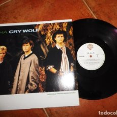 Discos de vinilo: AHA CRY WOLF A-HA MAXI SINGLE VINILO DEL AÑO 1986 CANADA CONTIENE 3 TEMAS MUY RARO. Lote 147750182