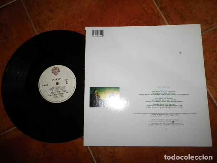 Discos de vinilo: AHA Cry wolf A-HA MAXI SINGLE VINILO DEL AÑO 1986 CANADA CONTIENE 3 TEMAS MUY RARO - Foto 2 - 147750182
