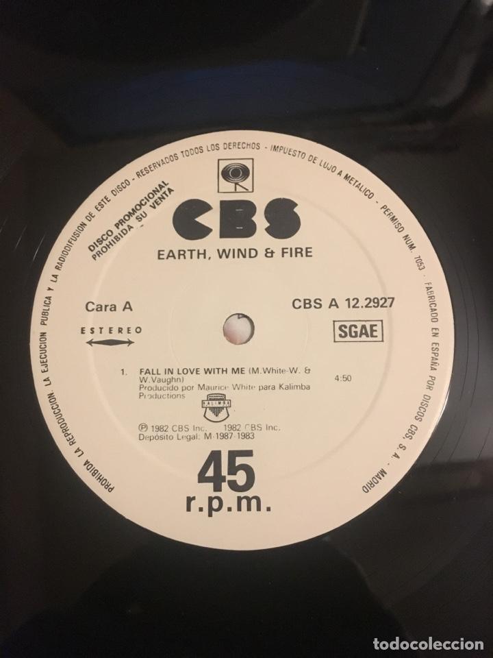 Discos de vinilo: EARTH WIND & FIRE-FALL IN LOVE WITH ME-PROMO 1983 LABEL BLANCO RARO-VINILO SIN USO - Foto 4 - 147751600