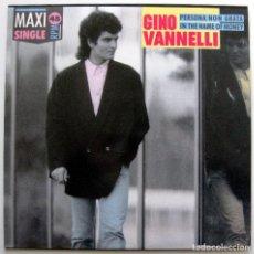 Disques de vinyle: GINO VANNELLI - PERSONA NON GRATA - MAXI DISQUES DREYFUS 1987 BPY. Lote 147754490