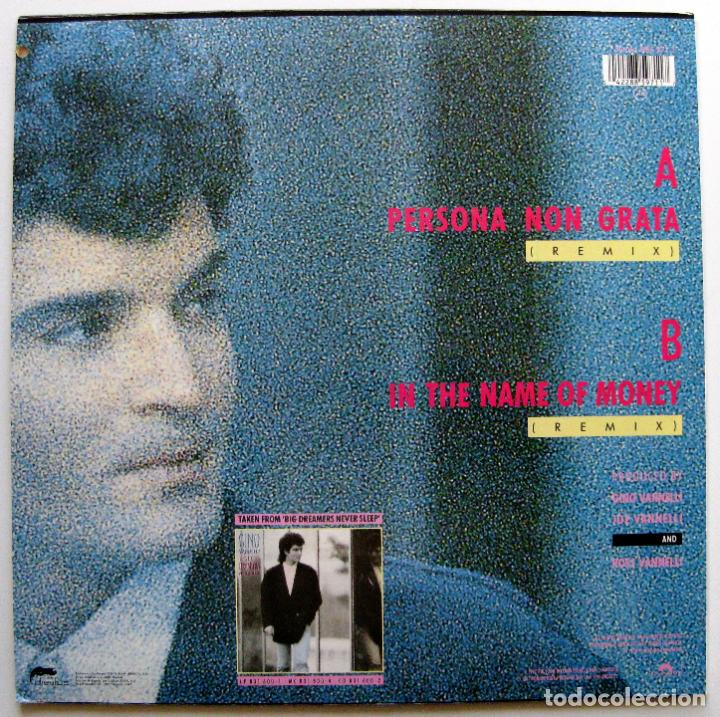 Discos de vinilo: Gino Vannelli - Persona Non Grata - Maxi Disques Dreyfus 1987 BPY - Foto 2 - 147754490