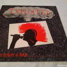 Discos de vinilo: THE EXPLOITED. LET'S START A WAR. LP 1985. Lote 147757506