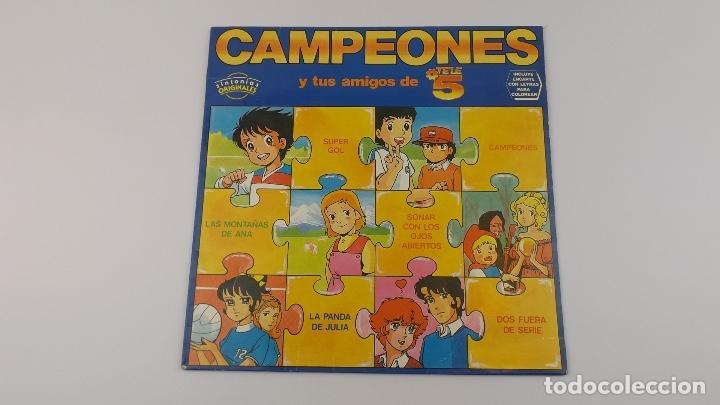 CAMPEONES Y TUS AMIGOS DE TELECINCO LP (Música - Discos - LP Vinilo - Bandas Sonoras y Música de Actores )