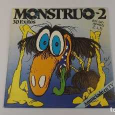 Discos de vinilo: MONSTRUO-2 30 EXITOS 2 LPS . Lote 147758162