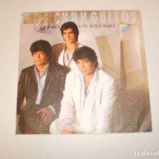Discos de vinilo: SINGLE LOS CHUNGUITOS. COMO UN PAYASO. ROSA MÍA. EMI 1986 SPAIN (PROBADO Y BIEN). Lote 147762006