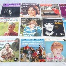 Discos de vinilo: LOTE 15 SINGLES POP FRANCIA AÑOS 60 Y 70. VER DESCRIPCIÓN. Lote 147769290