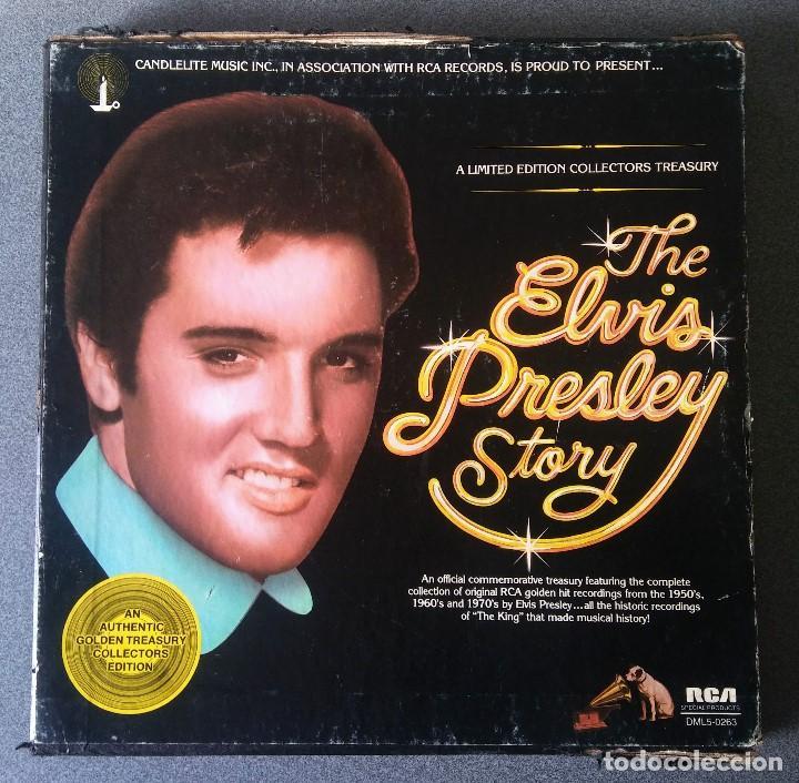 THE ELVIS PRESLEY STORY (Música - Discos - LP Vinilo - Rock & Roll)