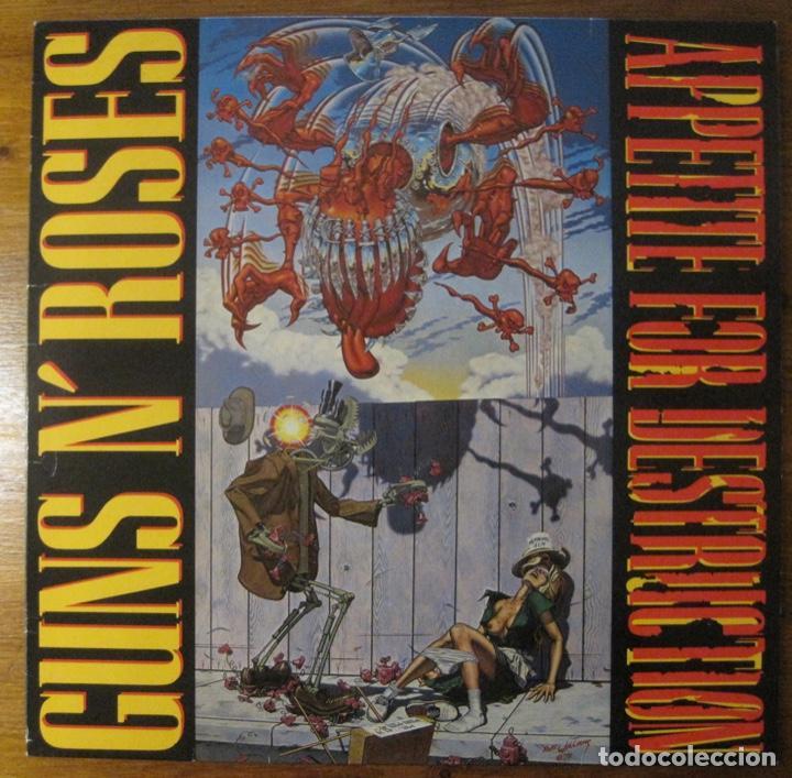 GUNS N' ROSES –APPETITE FOR DESTRUCTION LP (Música - Discos - LP Vinilo - Otros estilos)