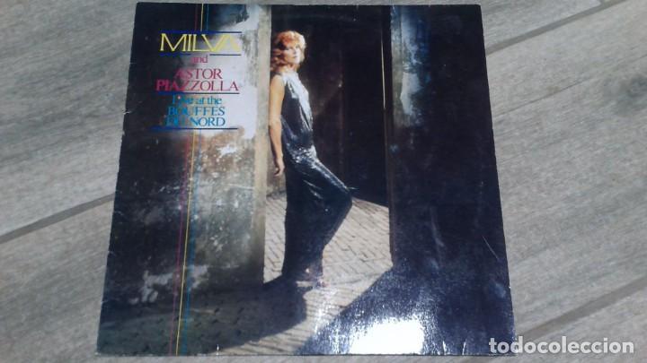 MILVA AND ASTOR PIAZZOLLA -LIVE AT THE BOUFFES DU NORD- LP 1984 METRONOME GERMAN (Música - Discos - LP Vinilo - Grupos y Solistas de latinoamérica)