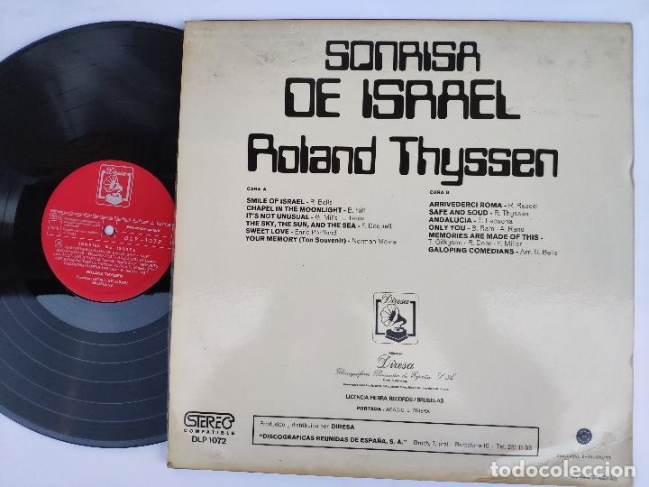 Discos de vinilo: ROLAND THYSSEN - LP Español - NUEVO - SONRISA DE ISRAEL - Foto 2 - 147780962
