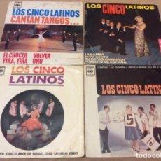 Discos de vinilo: LOS CINCO LATINOS, CANTAN TANGOS. LA BAMBA. ESTANDO CONTIGO. ET MAINTENANT. LOTE 4 EPS.. Lote 147784946