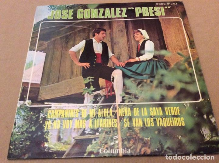 JOSÉ GONZÁLEZ, PRESI - CAMPANINES DE MI ALDEA +3. COLUMBIA 1969. (Música - Discos de Vinilo - EPs - Étnicas y Músicas del Mundo)