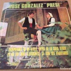 Discos de vinilo: JOSÉ GONZÁLEZ, PRESI - CAMPANINES DE MI ALDEA +3. COLUMBIA 1969.. Lote 147785802