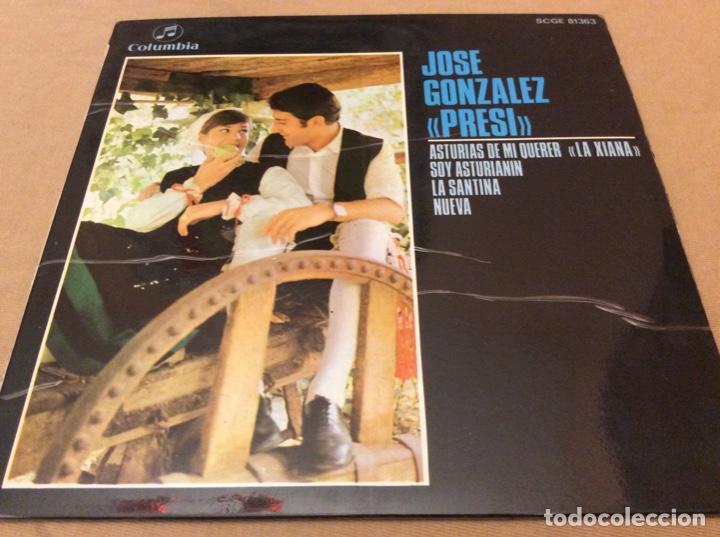 JOSE GONZALEZ, PRESI. ASTURIAS DE MINQUER, LA DIANA. +3. COLUMBIA 1969. (Música - Discos de Vinilo - EPs - Étnicas y Músicas del Mundo)
