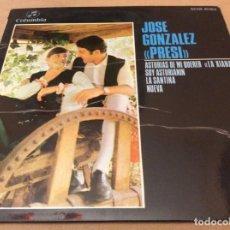 Discos de vinilo: JOSE GONZALEZ, PRESI. ASTURIAS DE MINQUER, LA DIANA. +3. COLUMBIA 1969.. Lote 147786106
