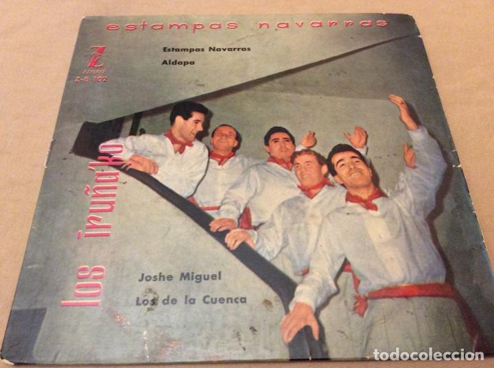 LOS IRUÑAKO. ESTAMPAS NAVARRAS/ALDAPA/JOSHE MIGUEL/LOS DE LA CUENCA. 1959 ZAFIRO. (Música - Discos de Vinilo - EPs - Étnicas y Músicas del Mundo)