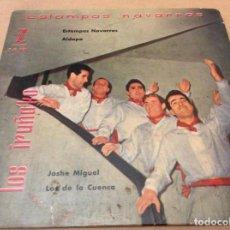 Discos de vinilo: LOS IRUÑAKO. ESTAMPAS NAVARRAS/ALDAPA/JOSHE MIGUEL/LOS DE LA CUENCA. 1959 ZAFIRO.. Lote 147786242