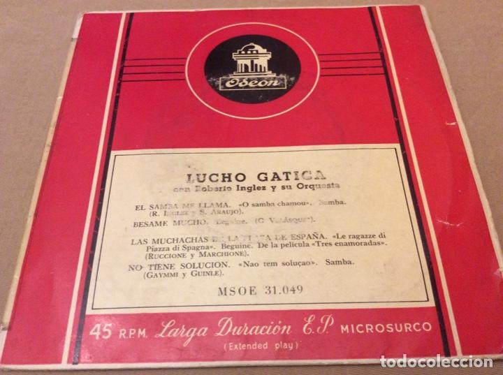 LUCHO GATICA. ROBERTO INGLEZ. EL SAMBA ME LLAMA. BÉSAME MUCHO. +2. ODEON (Música - Discos de Vinilo - EPs - Grupos y Solistas de latinoamérica)