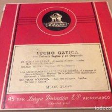 Discos de vinilo: LUCHO GATICA. ROBERTO INGLEZ. EL SAMBA ME LLAMA. BÉSAME MUCHO. +2. ODEON . Lote 147787650