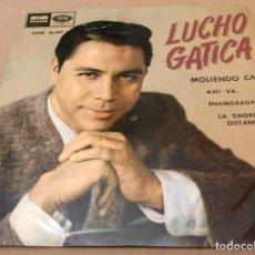 Discos de vinilo: LUCHO GATICA. MOLIENDO CAFE / AHI VA / ENAMORADA / LA ENORME DISTANCIA. ODEON EMI 1961.. Lote 147788154