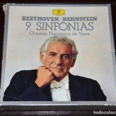 Discos de vinilo: CAJA CON 9 DISCOS - 9 SINFONIAS DE BEETHOVEN - DISCOS NUEVOS - LEONARD BERNSTEIN. Lote 147788238