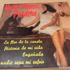 Discos de vinilo: MARIA DOLORES PRADERA. LA FLOR DE LA CANELA. HISTORIA DE MI VIDA . ENGAÑADA Y 1 MÁS. ZAFIRO 1961. Lote 147789862