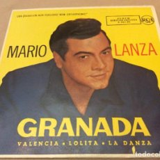 Discos de vinilo: MARIO LANZA - GRANADA / VALENCIA / LOLITA / LA DANZA - RCA VICTOR.. Lote 147789926