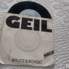 Discos de vinilo: SINGLE (VINILO) DE BRUCE & BONGO AÑOS 80. Lote 147802210