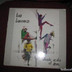Discos de vinilo: DISCO LP GRUPO DE CORUÑA Y FERROL LOS LIMONES TITULO DONDE SE ACABA EL MAR. Lote 147819950