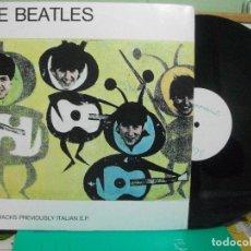 Discos de vinilo: THE BEATLES LIVE TRACKS PREVIOUSLY ITALIAN - LP ITALIA 1967 PEPETO TOP. Lote 147828966