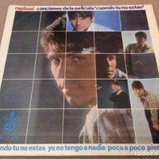 Discos de vinilo: RAPHAEL. CUANDO TU NO ESTAS / YO NO TENGO A NADIE / POCO A POCO / PIENSALO. HISPAVOX 1966. Lote 147829882