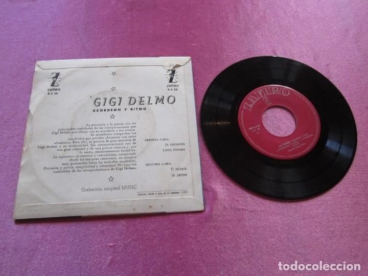 Discos de vinilo: GIGI DELMO ACORDEON Y RITMO - LA CUMPARSITA EP - Foto 2 - 147849074