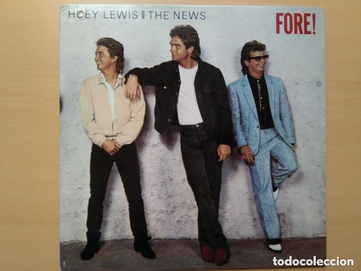 HUEY LEWIS AND THE NEWS - FORE! (LP) 1986 (Música - Discos - LP Vinilo - Pop - Rock - New Wave Extranjero de los 80)