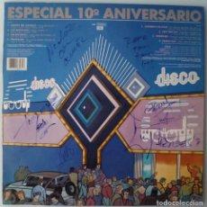 Discos de vinilo: VARIOS - 10º ANIVERSARIO DISCOTECA WOODY VALENCIA (FIRMADO POR HEROES DEL SILENCIO Y OTROS). Lote 147863366