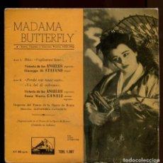 Discos de vinilo: VICTORIA DE LOS ANGELES. MADAMA BUTTERFLY. LA VOZ DE SU AMO 1958. EP. Lote 147865534