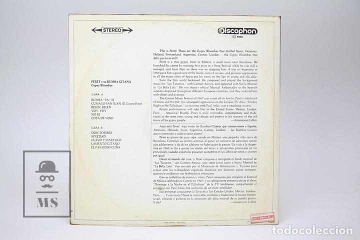 Discos de vinilo: Disco LP de Vinilo - Peret y su Rumba Gitana / Gypsy Rhumbas - Discophone - Año 1969 - Foto 3 - 147865661