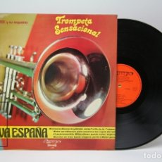 Discos de vinilo: DISCO LP DE VINILO - TROMPETA SENSACIONAL Y VIVA ESPAÑA / LOU DEREK Y SU ORQUESTA - OLYMPO, 1973. Lote 147865705