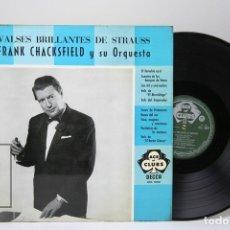 Discos de vinilo: DISCO LP DE VINILO - VALSES BRILLANTES DE STRAUSS / FRANK CHACKSFIELD - DECCA - AÑO 1968. Lote 147865737