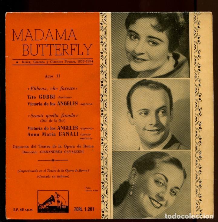 VICTORIA DE LOS ANGELES. MADAMA BUTTERFLY. LA VOZ DE SU AMO 1958 (Música - Discos de Vinilo - EPs - Clásica, Ópera, Zarzuela y Marchas)