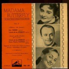 Discos de vinilo: VICTORIA DE LOS ANGELES. MADAMA BUTTERFLY. LA VOZ DE SU AMO 1958. Lote 147865766