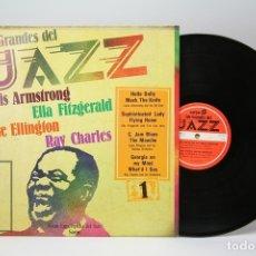 Discos de vinilo: DISCO LP DE VINILO - LOS GRANDES DEL JAZZ Nº 1 / LOUIS ARMSTRONG, ELLA FITZGERALD... - SARPE. Lote 147866076