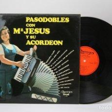 Discos de vinilo: DISCO LP DE VINILO - Mº JESUS Y SU ACORDEÓN / PASODOBLES - OLYMPO - AÑO 1974. Lote 147866708