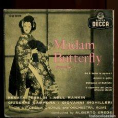 Discos de vinilo: TEBALDI. MADAM BUTTERFLY. DECCA 1958. EP. Lote 147867642