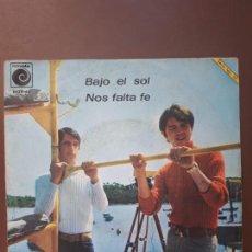 Discos de vinilo: JUAN & JUNIOR - BAJO EL SOL - NOVOLA -1967. Lote 147868878