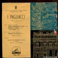 Discos de vinilo: MARIA CALLAS. I PAGLACCI. LA VOZ DE SU AMO. 1959. EP . Lote 147869050
