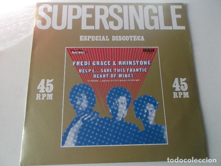Discos de vinilo: FREDI GRACE & RHINSTONE - help save this frantic - MAXI SINGLE 1982 - RCA - Foto 3 - 147869446