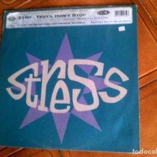 Discos de vinilo: DISCO DE STRESS ,EVOLUTION UK REMIX Y HAMMONDIA MIX 1993. Lote 147870886