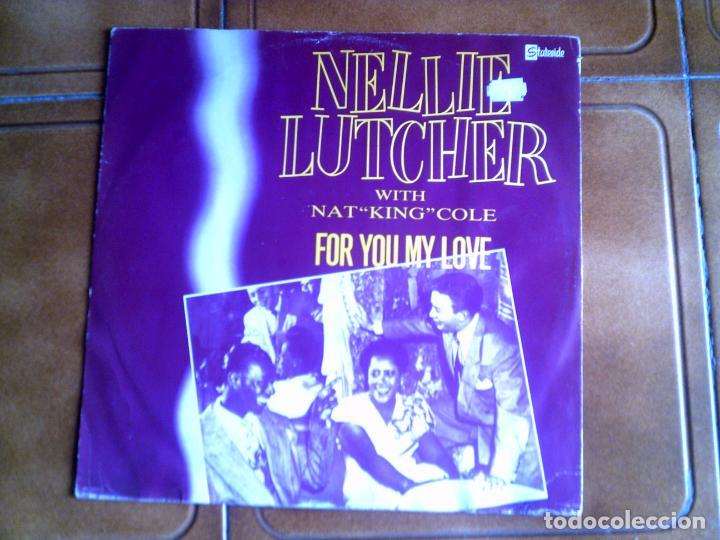 DISCO NELLIE LUTCHER ,WITH NAT KING COLE (Música - Discos de Vinilo - Maxi Singles - Jazz, Jazz-Rock, Blues y R&B)